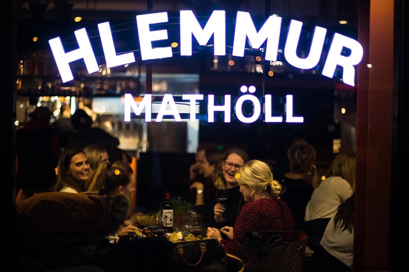 Hlemmur Mathöll Food Hall in Reykjavik, island