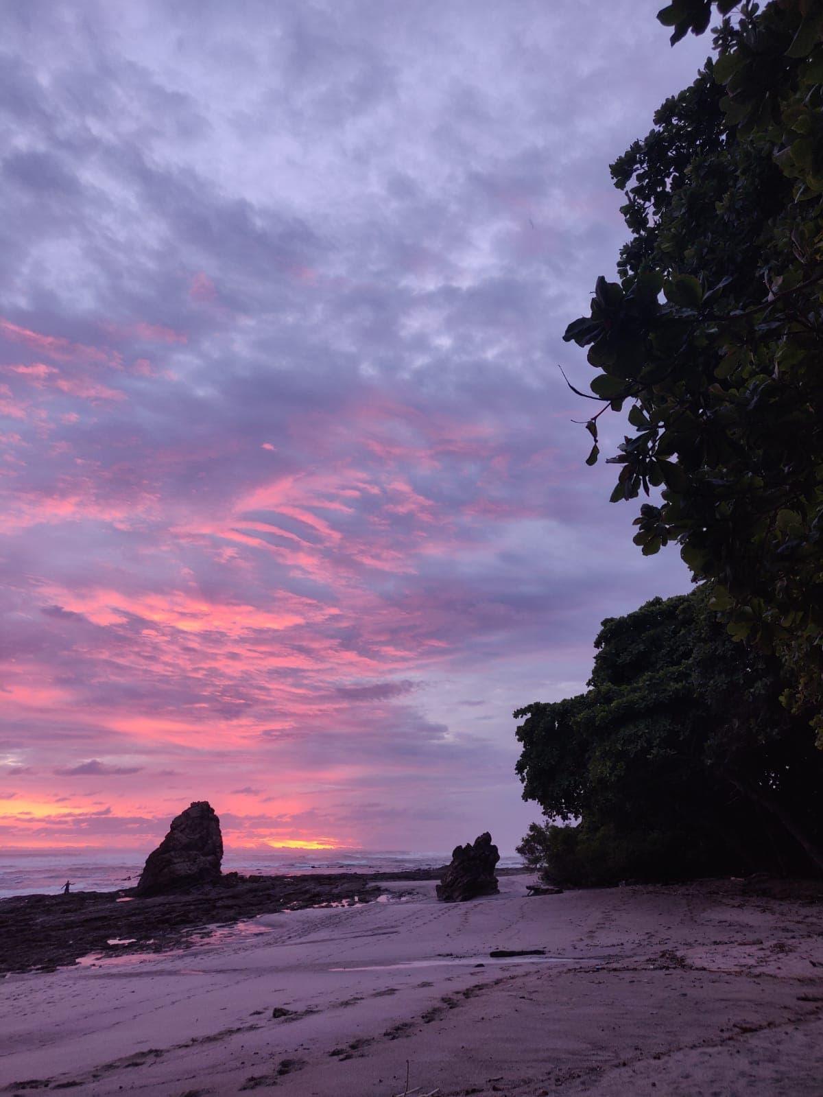 Sonnenuntergang in Santa Teresa, Costa Rica