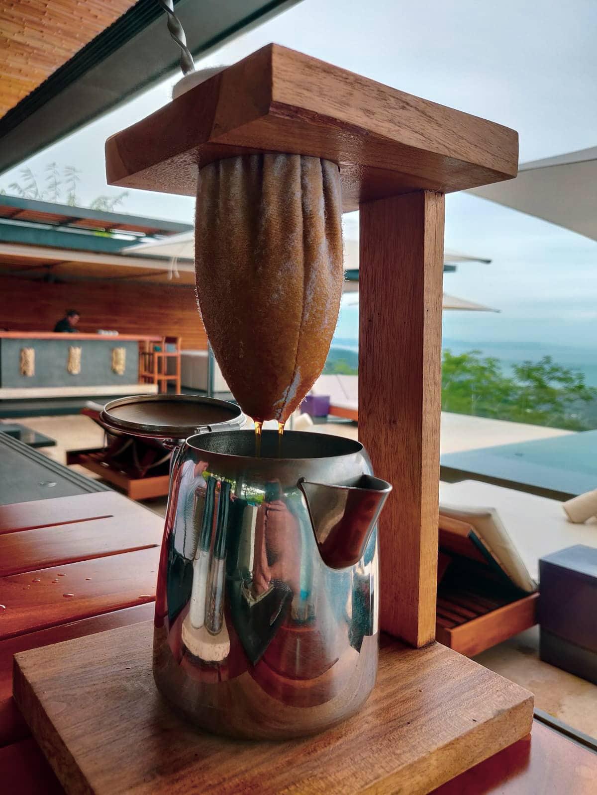 Traditionelle Zubereitung von Kaffee in Costa Rica