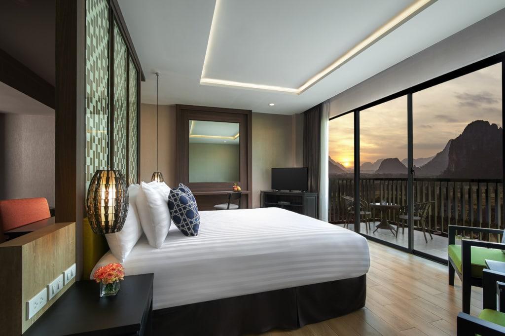 Schlafzimmer im Amari Vang Vieng in Laos