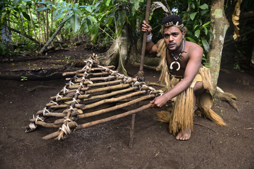 Cultural Village in Vanuatu in der Südsee