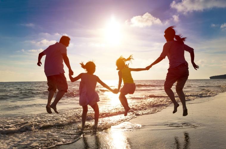 Familie,Strand