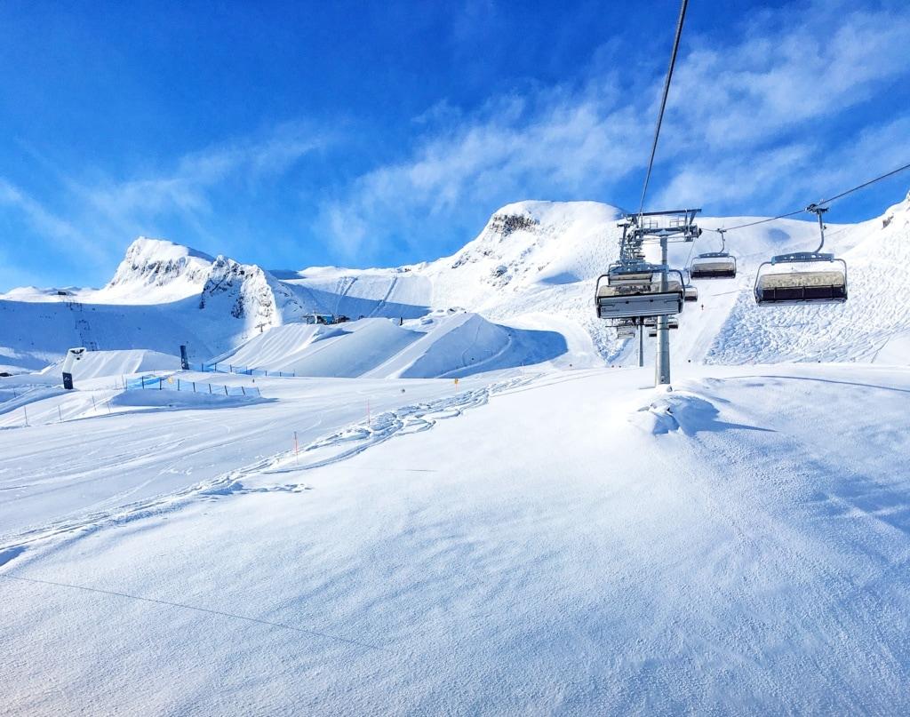 Gletscher-Skigebiet Kitzsteinhorn in Österreich