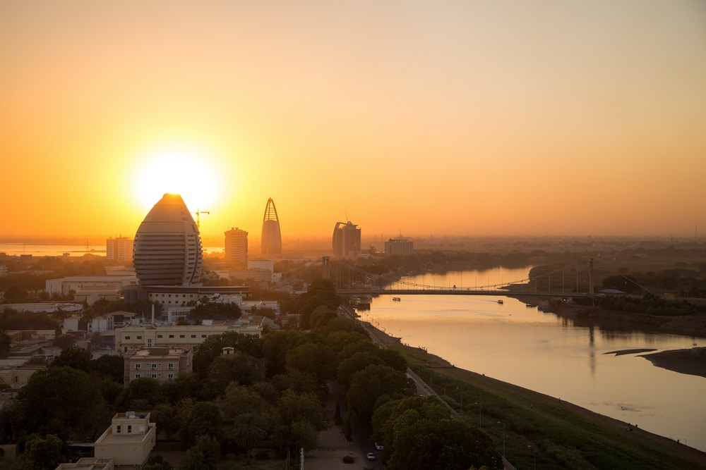 Skyline von Khartoum im Sudan