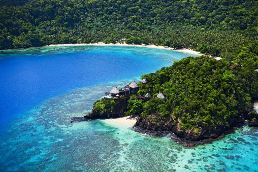 Auf der abgelegenen Privatinsel Laucala Island sind Gäste zum Entspannen verdonnert.