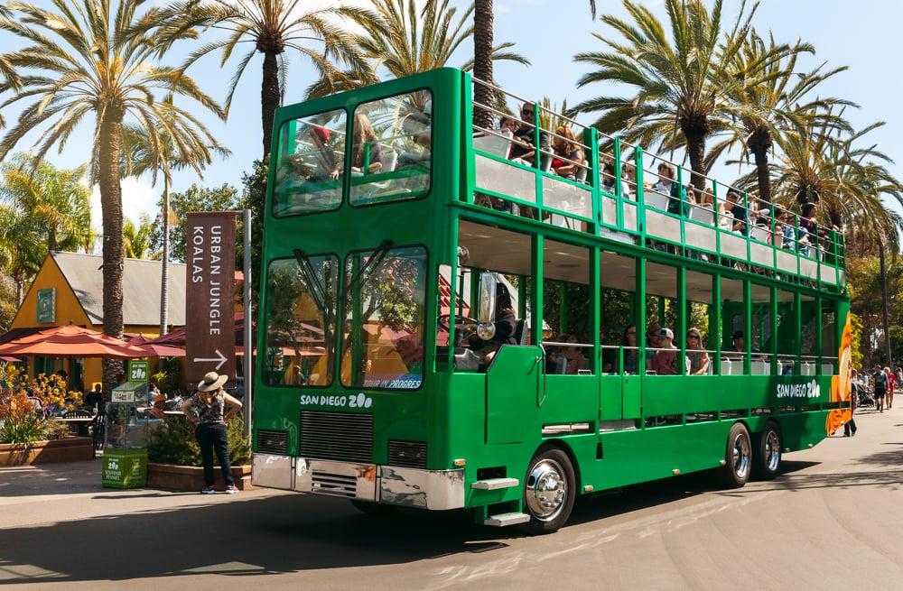 Hop-on-Hop-off-Bus im San Diego Zoo