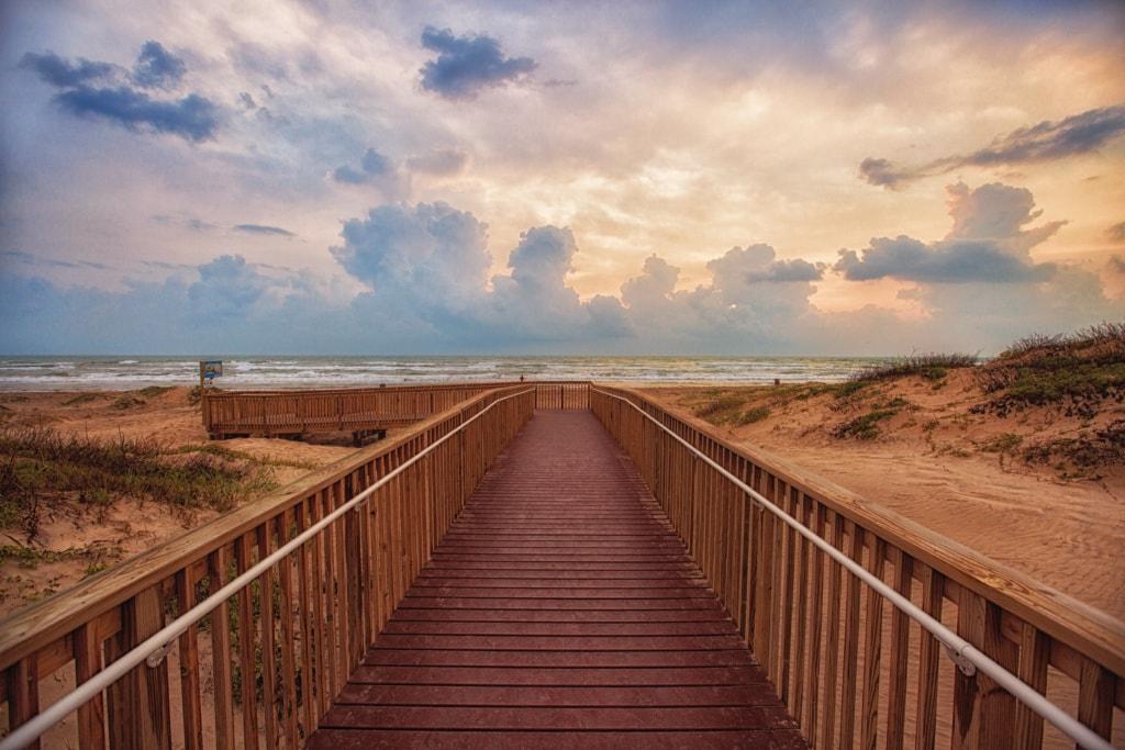 Küste von Texas: Strand auf South Padre
