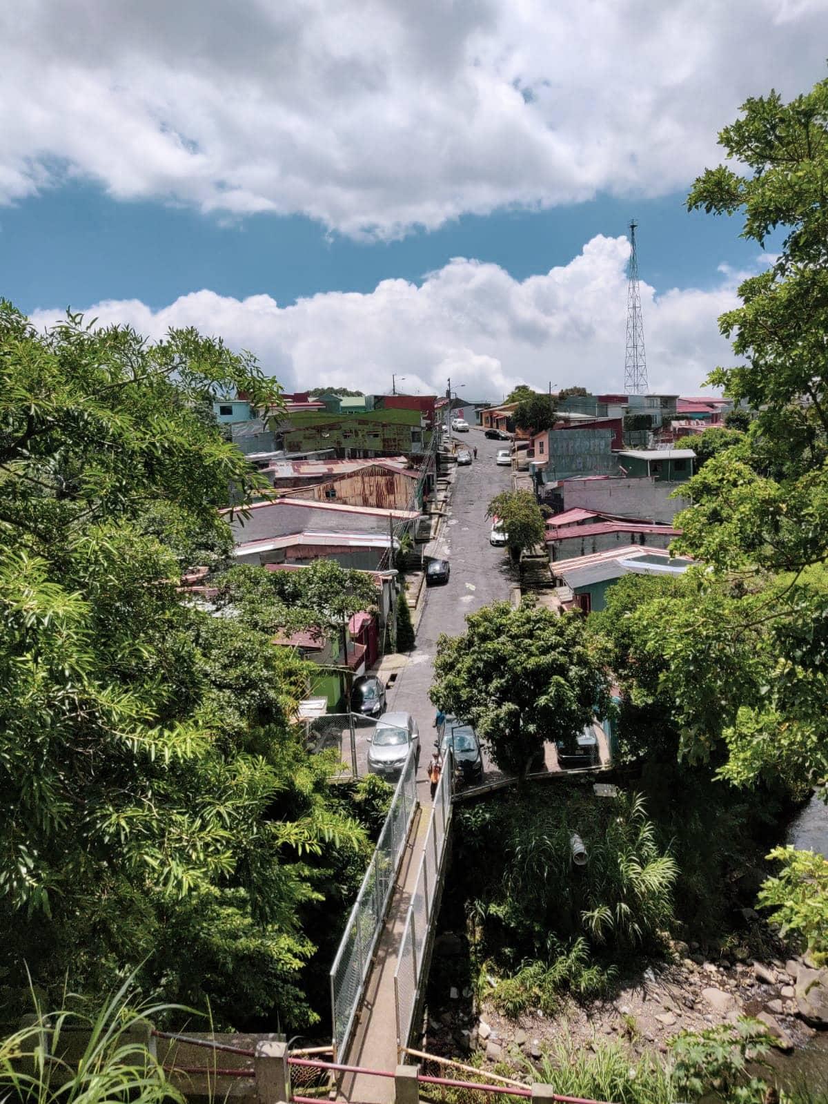 Straße im Barrio Aranjuez in San Jose, Costa Rica