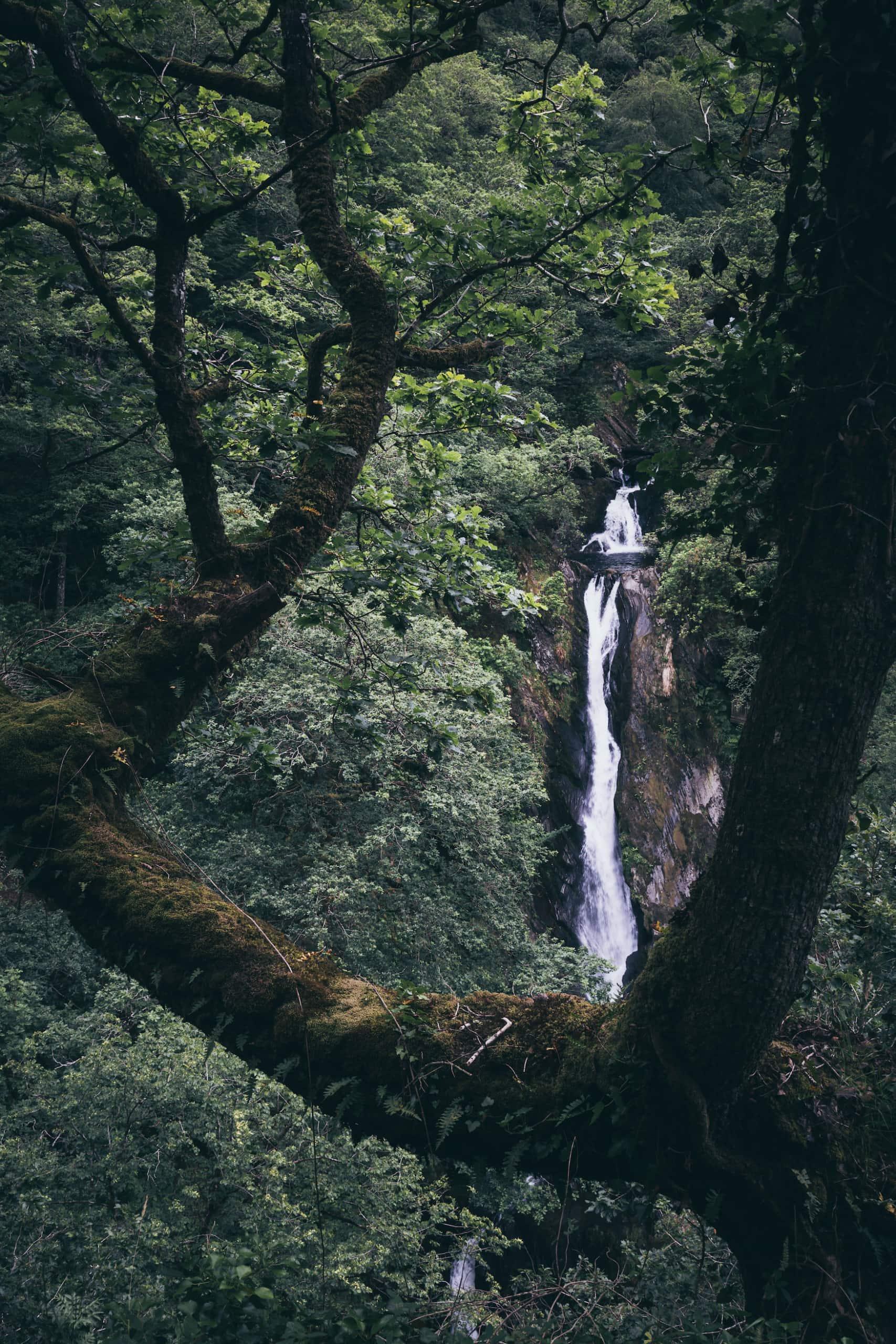 Wasserfall Pontarfynach in Wales
