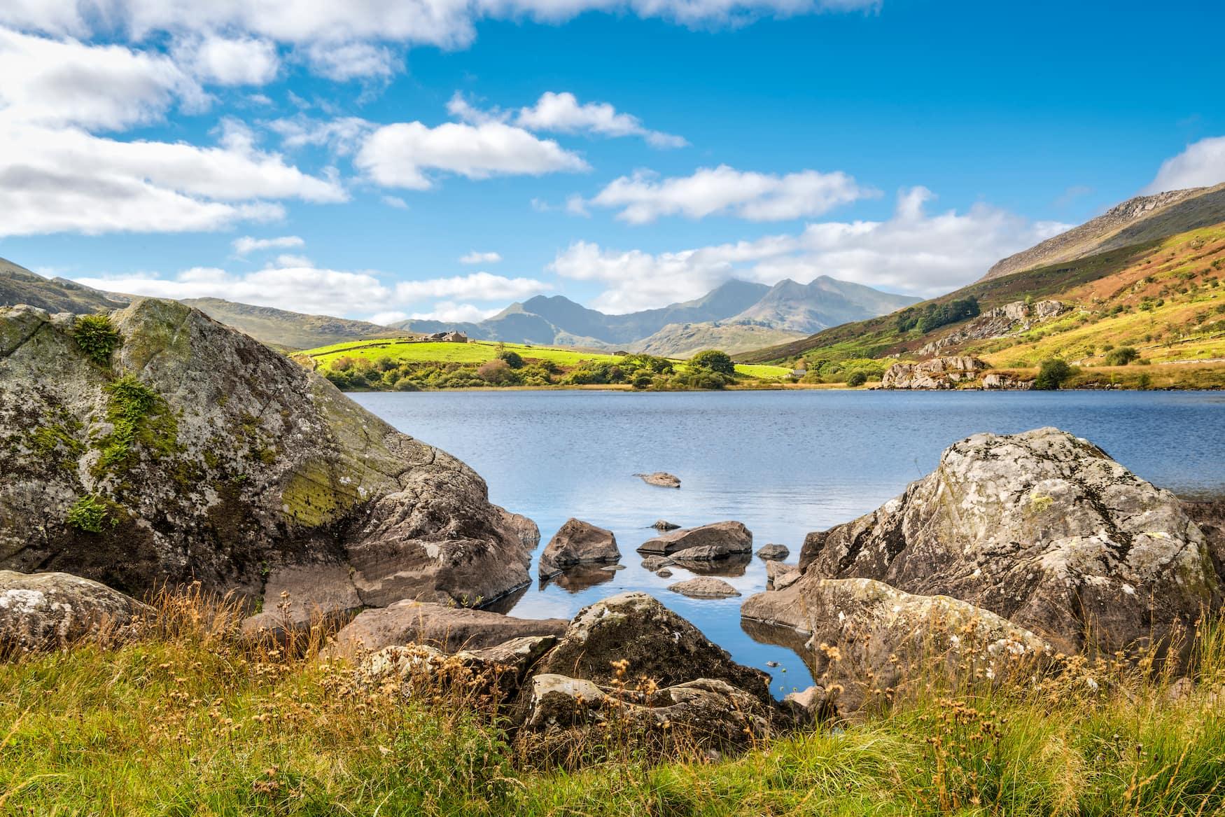 Blick auf den höchsten Berg in Wales: Snowdon