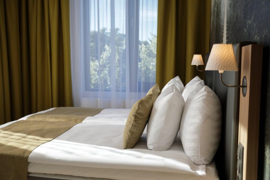Bett im Hotel Centennial in Tallinn