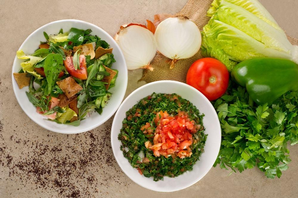 Gemüse in Schalen