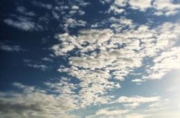 Deich Wolken Büsum Himmel Nordsee
