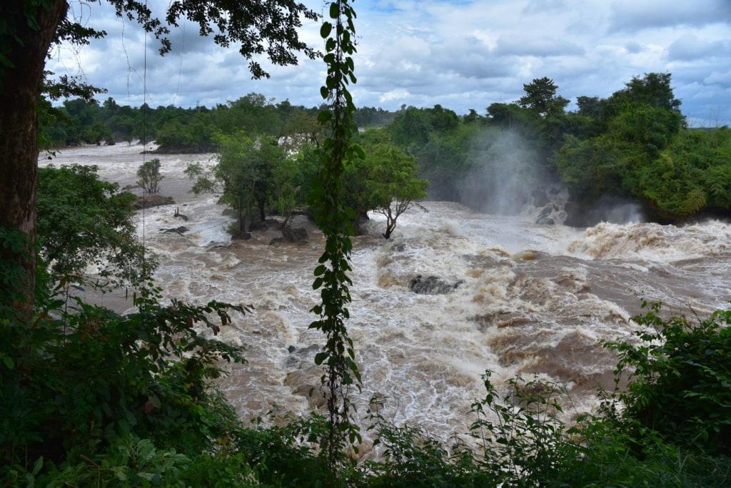 Mekongfälle bei Pakse in Laos