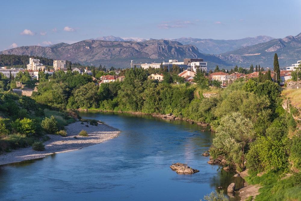 Urlaub in Montenegro: Blick auf Podgorica