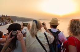 Touristen,Kameras,Handys,Sehenswürdigkeiten