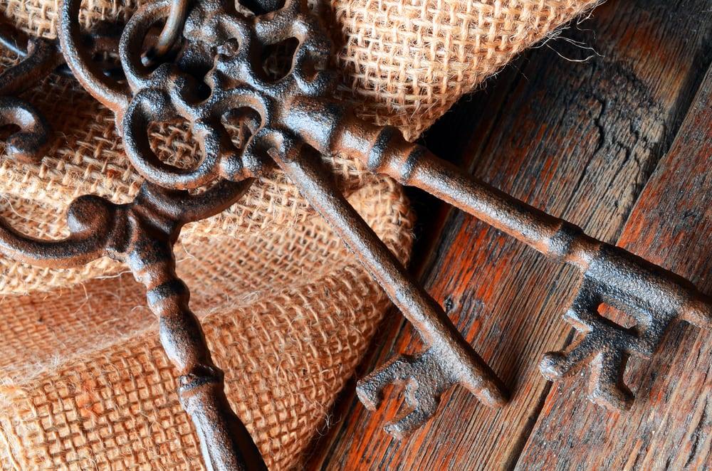 Urlaub im Kloster: alte Schlüssel