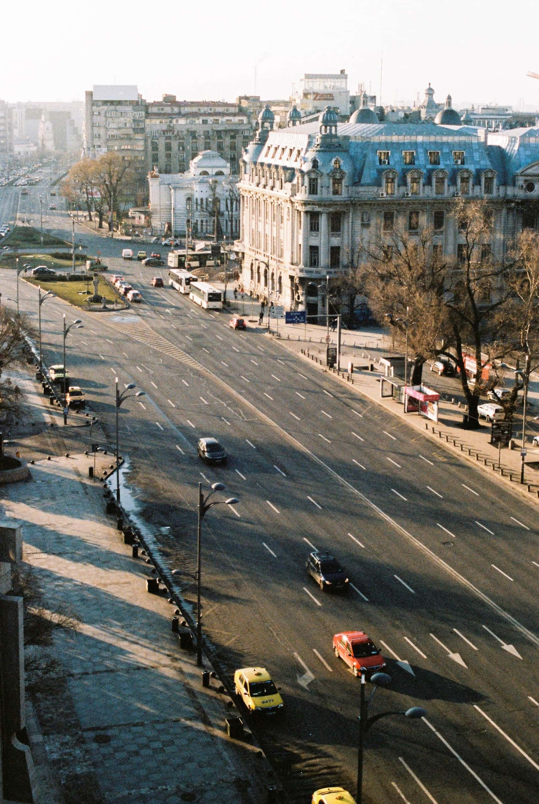 Straßen in Bukarest. Rumänien