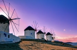 Griechische Inseln: Windmühlen auf Mykonos