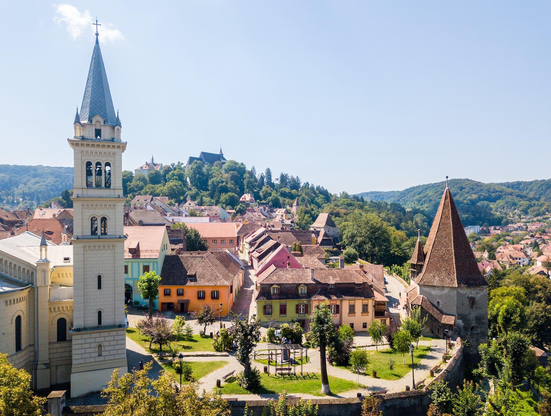 Dächer über der Schäßburg, Unesco-Weltkulturerbe