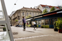 Wiens junge Szene: Skater am Yppenplatz in Wien