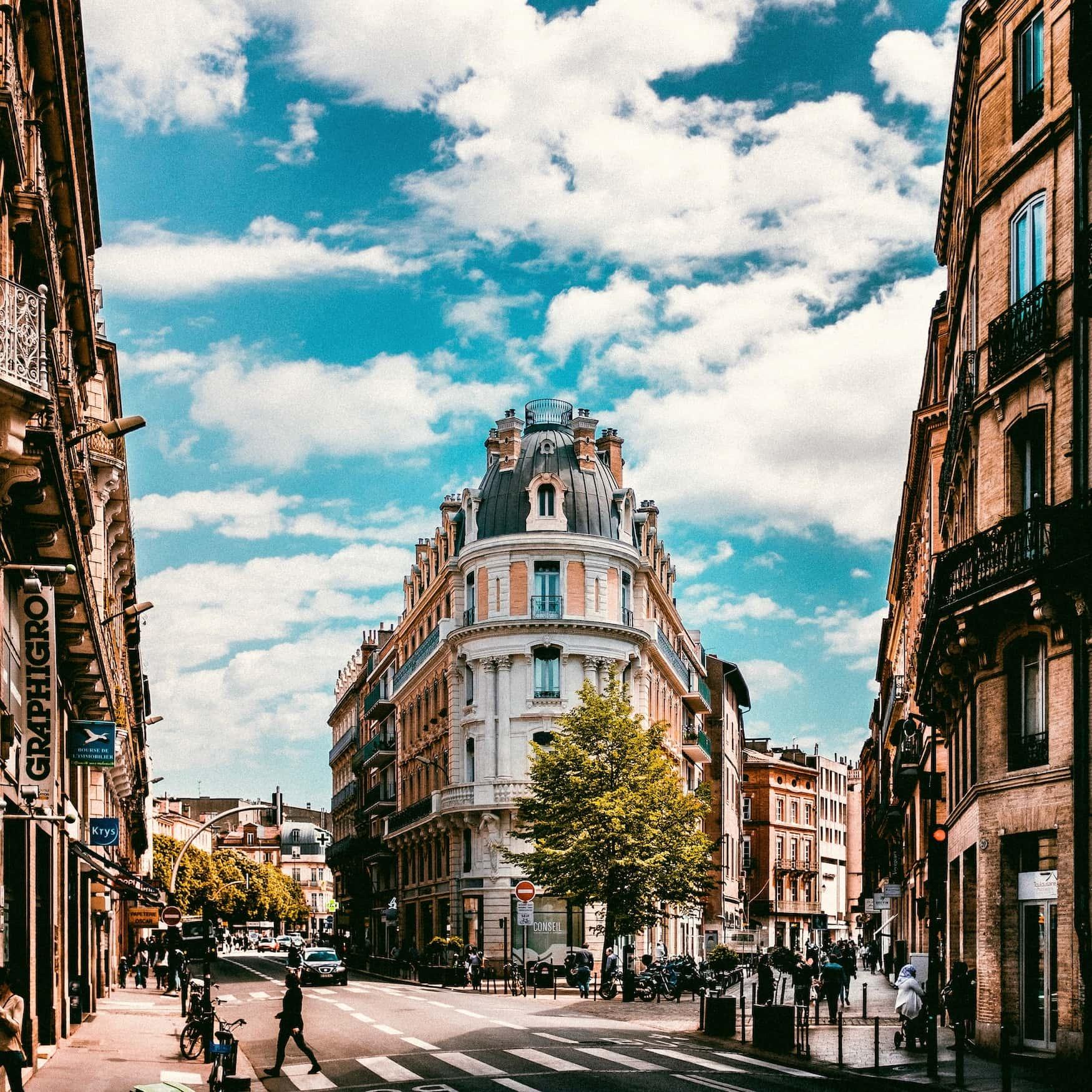 Straßen mit Boutiquen in Toulouse