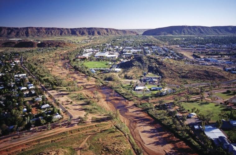 Alice Springs aus der Vogelperspektive