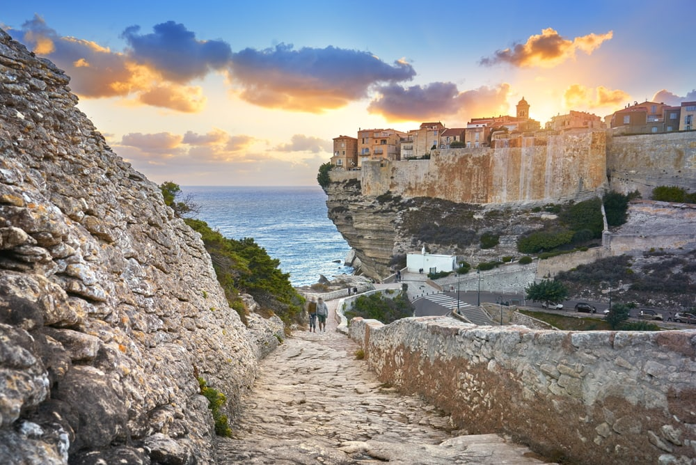 Altstadt von Bonifacio auf Korsika