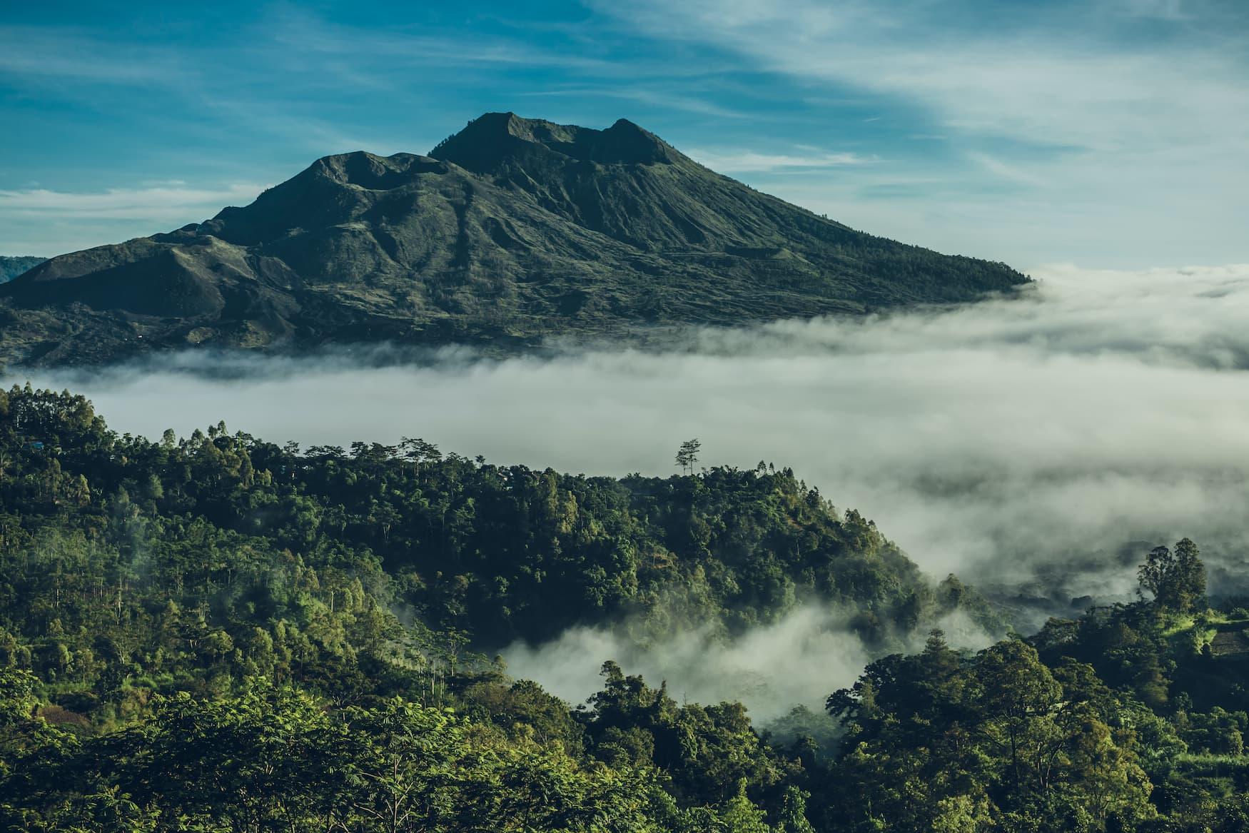 Mount Angun auf Bali