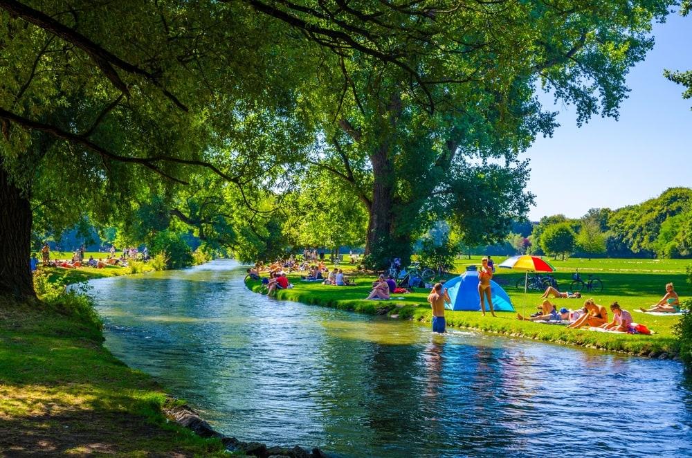 Parks in deutschen Großstädten: Englischer Garten in München