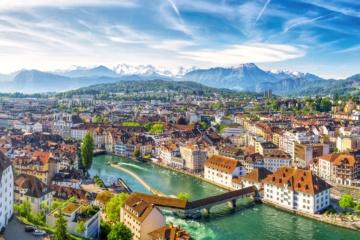 Vogelperspektive auf Luzern