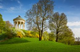 Monopteros-Tempel im Englischen Garten in München