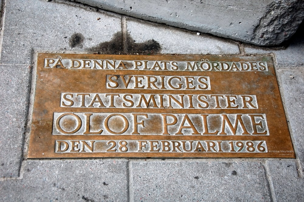 Olof Palme-Erinnerung in Stockholm
