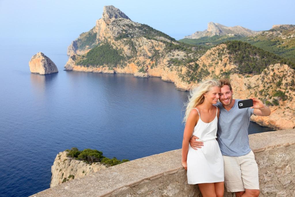 Selfie auf Mallorca: Cap de Formentor