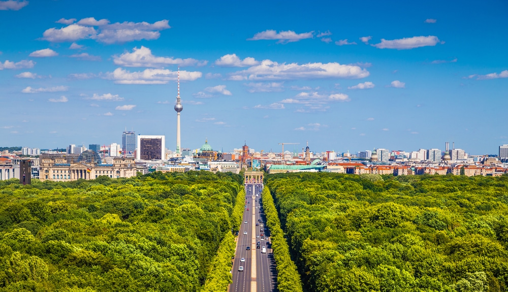 Parks in deutschen Großstädten: Blick auf den Tiergarten in Berlin