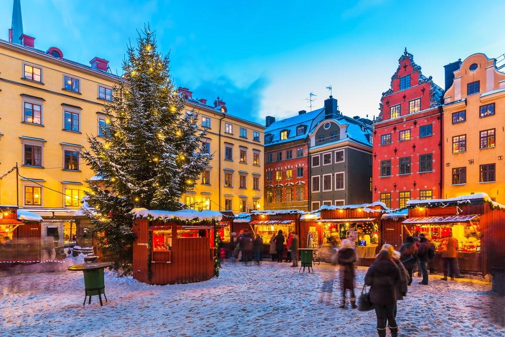 Weihnachtsmarkt in Stockholm