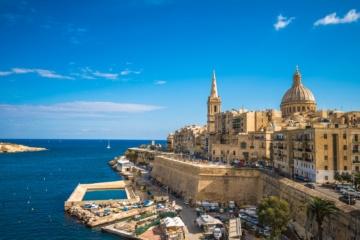 Blick auf Valletta, die Hauptstadt von Malta. Eine der Sehenswürdigkeiten der Insel