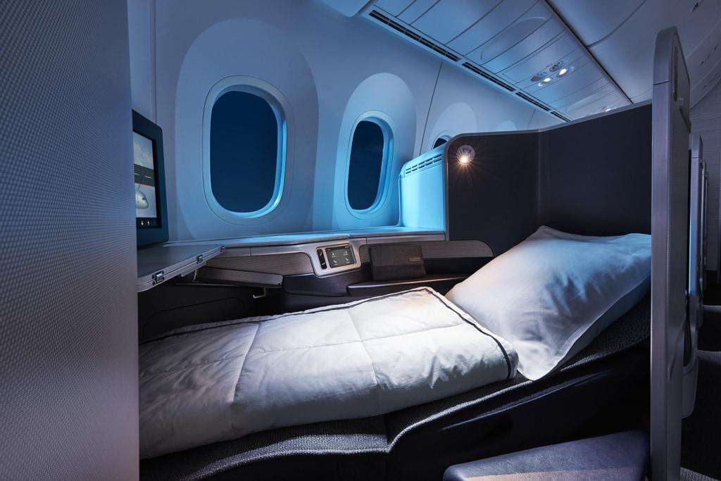 Bett in der Air Canada Signature Class