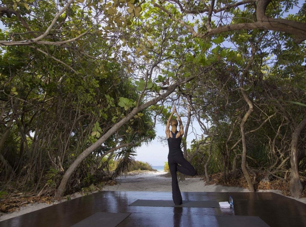 Yoga im Amanpulo