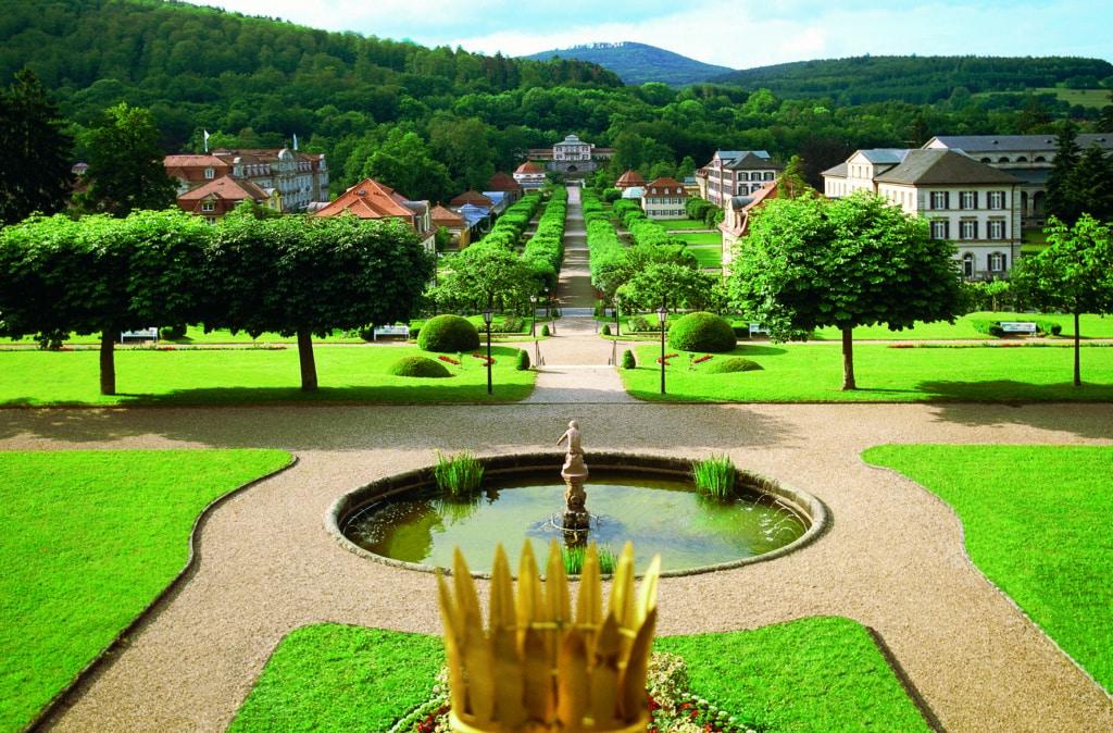 Kurparks in Bayern: Blick auf Bad Brückenau