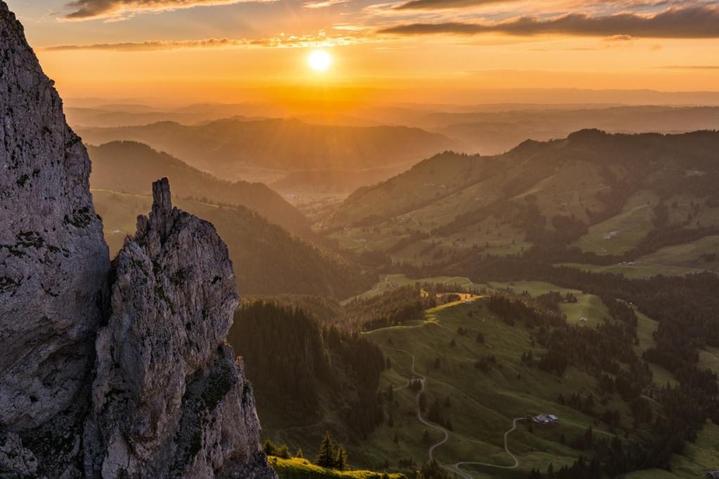 Panorama bei Soerenberg von der Schrattenfluh aus