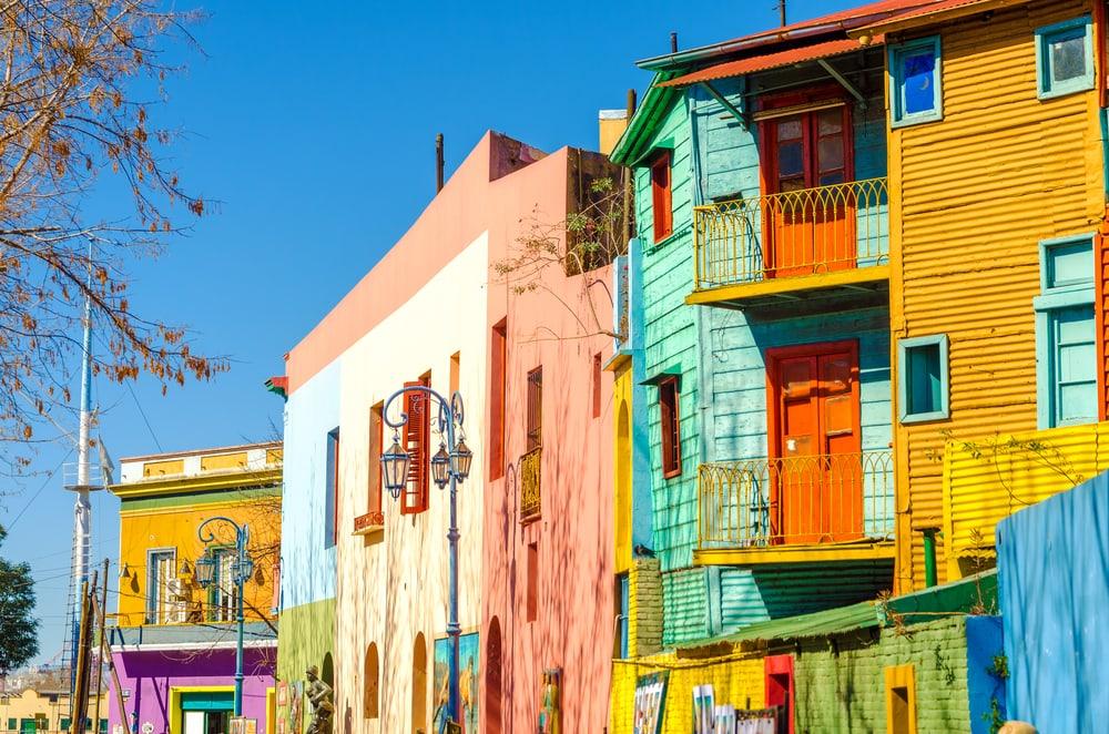 Häuser in La Boca in Buenos Aires