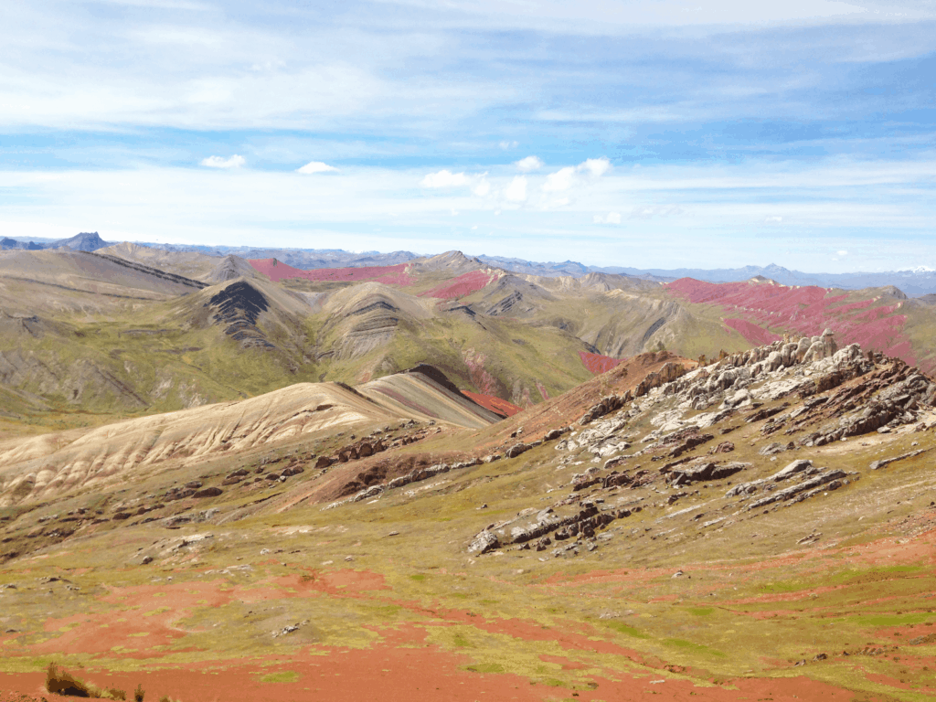 Ausblick am Rainbow Mountain