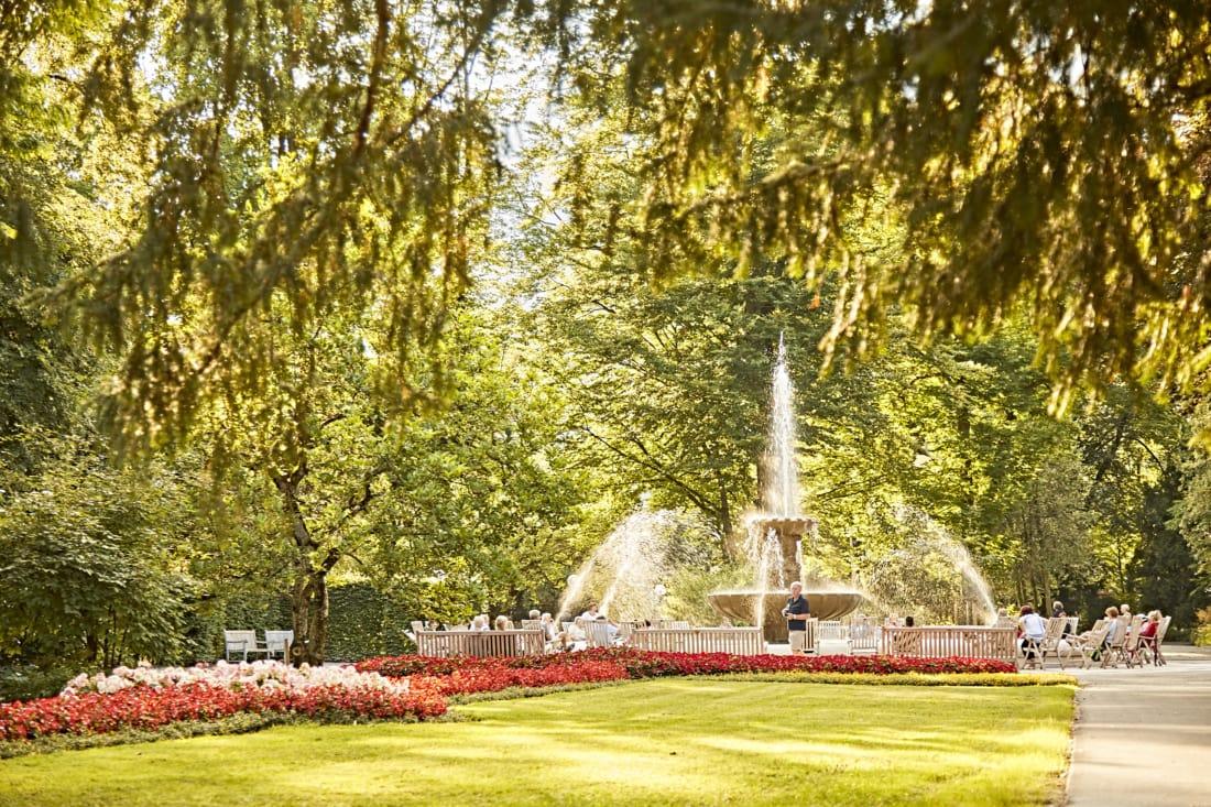 Kurparks in Bayern: Solebrunnen in Bad Reichenhall