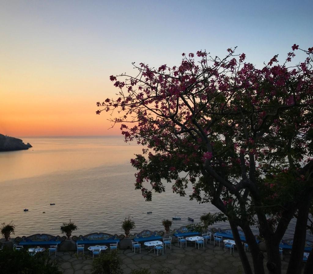 Terrasse des Küste vor dem Il San Pietro di Positano