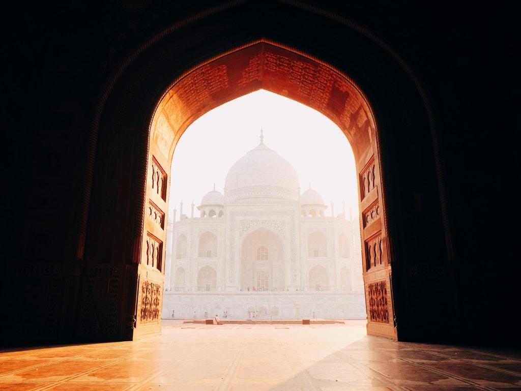 Taj Mahal im Morgengrauen - Indien-Erlebnisse
