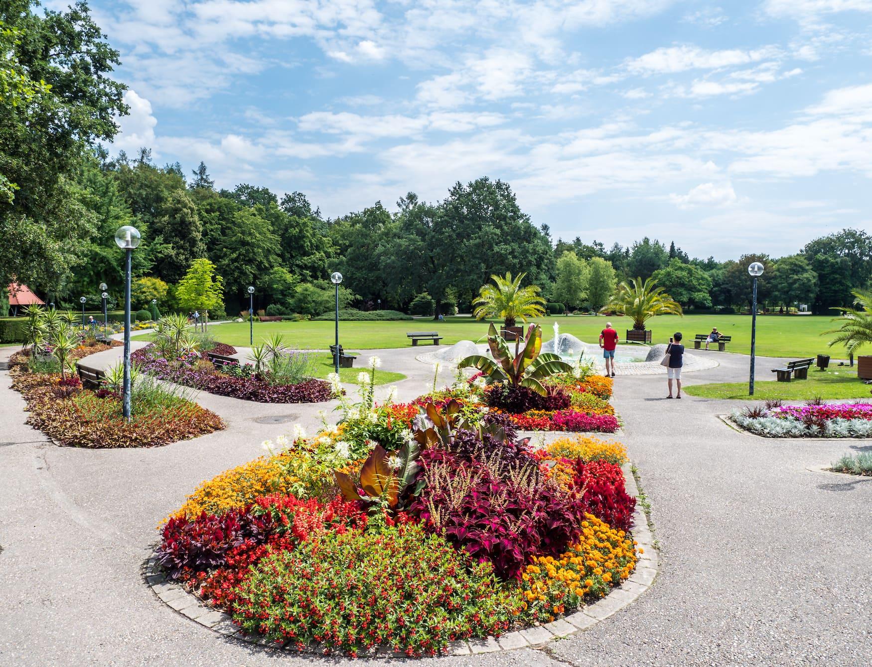Blumen im Kurgarten von Bad Füssing