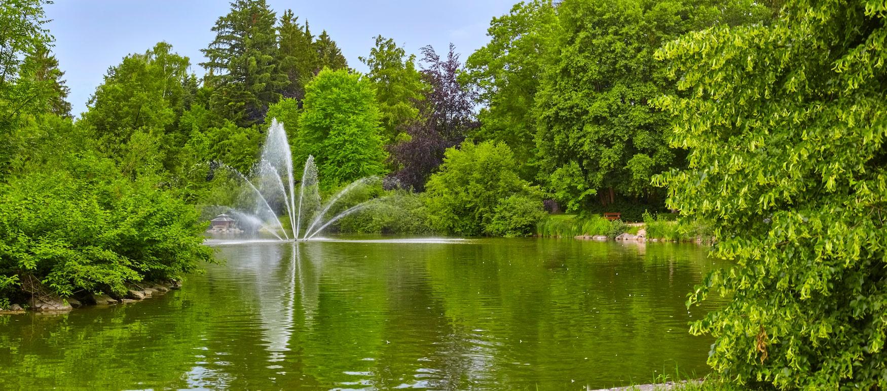 Einer der besten Kurparks in Bayern ist der in Bad Wörishofen