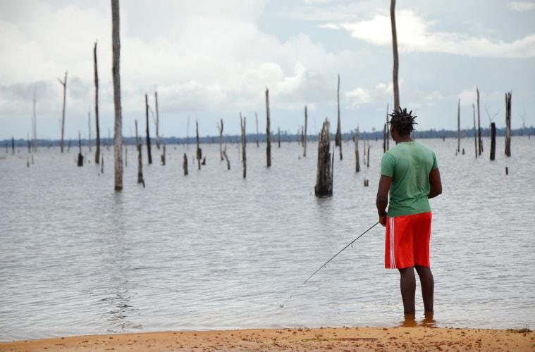 Angler in Surinam - Paradies island