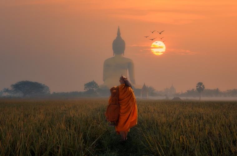 Big Buddha at Wat Muang Angthong, Temple thailand